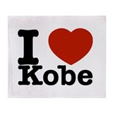 I Love Kobe Throw Blanket