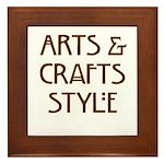 Arts & Crafft Style Framed Tile