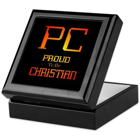 Proud to be Christian Keepsake Box