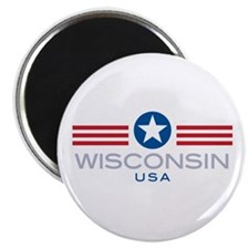 "Wisconsin-Star Stripes: 2.25"" Magnet (10 pack)"