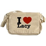I Love Lacy Messenger Bag