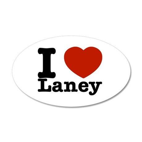 I Love Laney 35x21 Oval Wall Decal