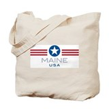 Maine-Star Stripes: Tote Bag