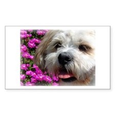Flower Bobby Rectangle Decal