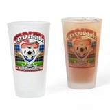 Croatia Football Soccer Drinking Glass