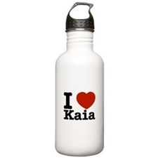 I Love Kaia Water Bottle