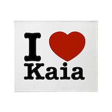 I Love Kaia Throw Blanket