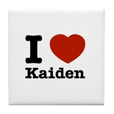I Love Kaiden Tile Coaster