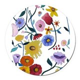 wildflowers.png Round Car Magnet