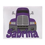 Trucker Sabrina Throw Blanket