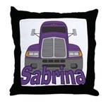 Trucker Sabrina Throw Pillow