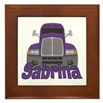Trucker Sabrina Framed Tile