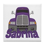Trucker Sabrina Tile Coaster