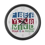 Free Your Mind Large Wall Clock
