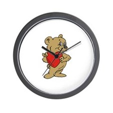 Bear Heart Wall Clock