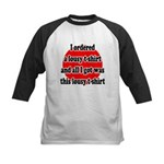 Lousy T-shirt Kids Baseball Jersey