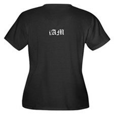 MINE iAm Women's Plus Size V-Neck Dark T-Shirt