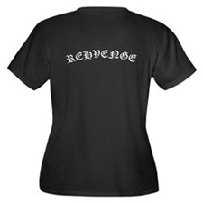 MINE Rehveng Women's Plus Size V-Neck Dark T-Shirt