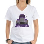 Trucker Sheena Women's V-Neck T-Shirt