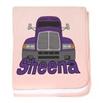 Trucker Sheena baby blanket