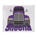Trucker Sheena Throw Blanket