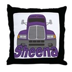 Trucker Sheena Throw Pillow
