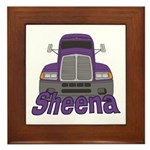 Trucker Sheena Framed Tile