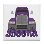 Trucker Sheena Tile Coaster