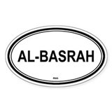 Al-Basrah, Iraq euro Oval Decal