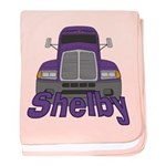 Trucker Shelby baby blanket