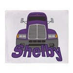 Trucker Shelby Throw Blanket