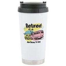 Retro Trailer Retired Ceramic Travel Mug