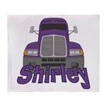 Trucker Shirley Throw Blanket