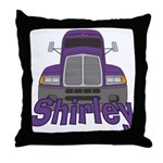 Trucker Shirley Throw Pillow