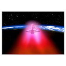 Space shuttle re-entry, artwork