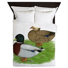 Grey Call Ducks Queen Duvet