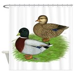 Grey Call Ducks Shower Curtain