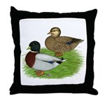 Grey Call Ducks Throw Pillow