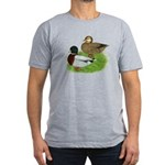 Grey Call Ducks Men's Fitted T-Shirt (dark)