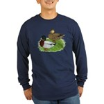 Grey Call Ducks Long Sleeve Dark T-Shirt