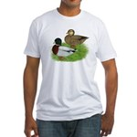 Grey Call Ducks Fitted T-Shirt