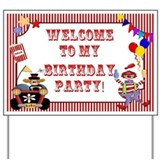Circus Birthday Yard Sign