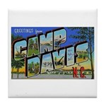 Camp Davis North Carolina Tile Coaster
