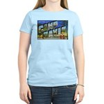 Camp Davis North Carolina (Front) Women's Pink T-S