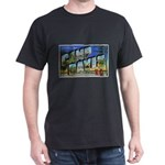 Camp Davis North Carolina (Front) Black T-Shirt