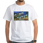 Camp Davis North Carolina (Front) White T-Shirt