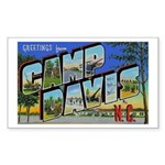 Camp Davis North Carolina Rectangle Sticker