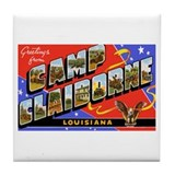 Camp Claiborne Louisiana Tile Coaster