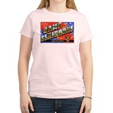 Camp Claiborne Louisiana Women's Pink T-Shirt