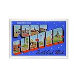 Fort Custer Michigan Rectangle Magnet